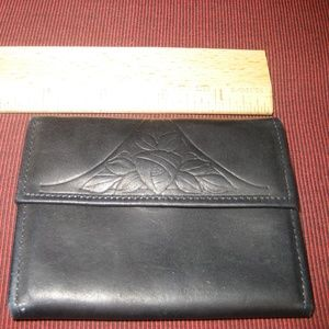 Black Leather Credit Card ID Case